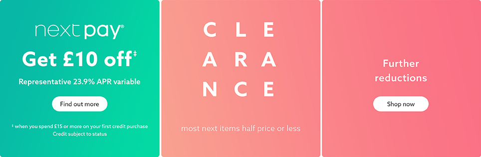 605a9fa2573 Clearance on Next Clothing & Homeware | Next Official Site