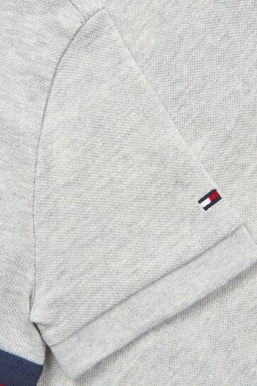 Boys Grey Cotton Polo Top