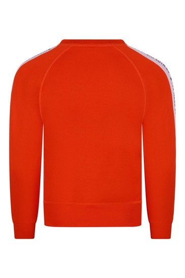 Boys Orange Cotton Sweat Top