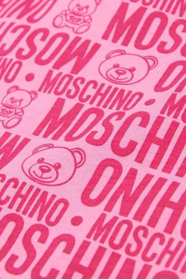 Moschino Baby Girls Pink Cotton Nest