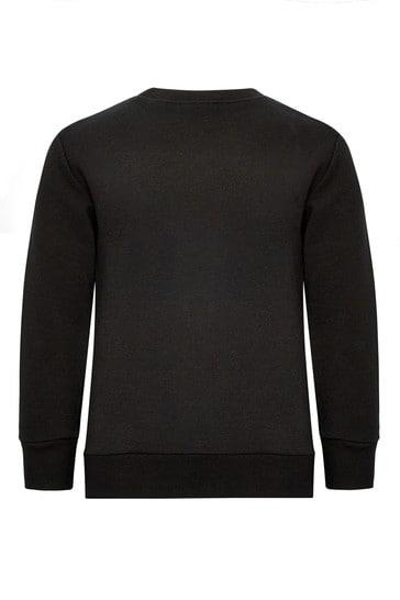 보이즈 블랙 코튼 스웨터