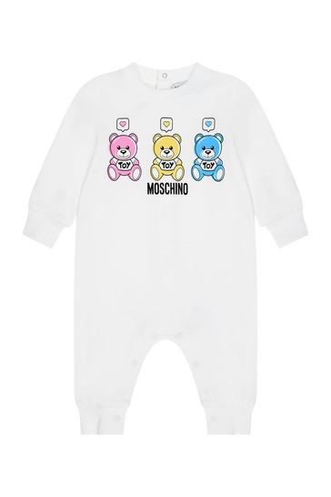 Moschino Baby White Cotton Romper