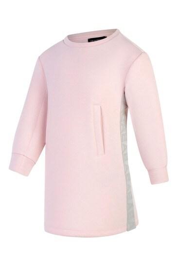 걸스 핑크 로고 드레스