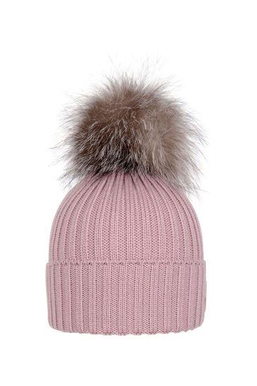 Girls Pastel Pink Wool Hat