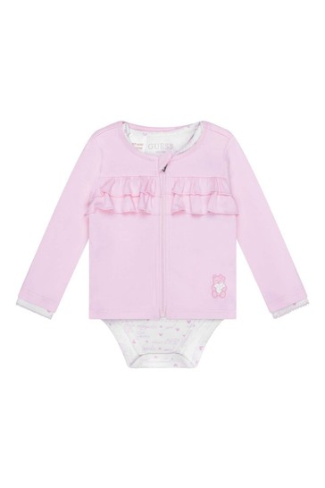 Baby Girls Pink Cotton Take Me Home Set