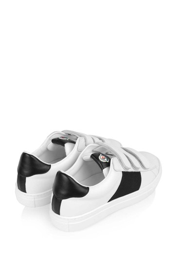 White/Black Leather Trainers