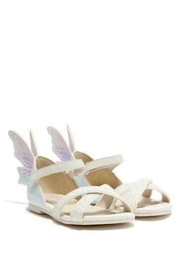 Girls White Talulah Sandals