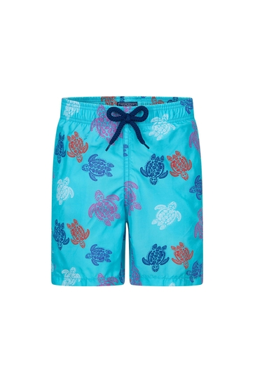 Boys Blue Turtles Swim Shorts