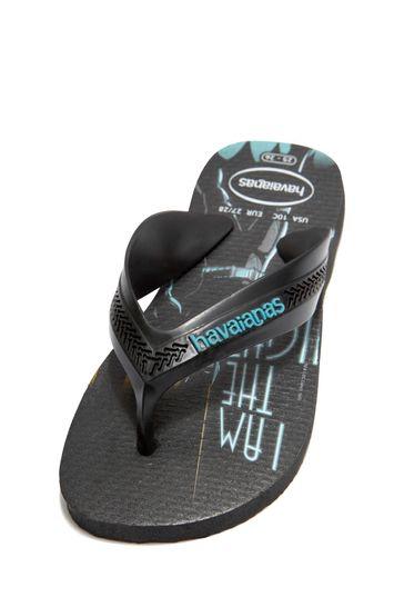 Boys Black Batman® Flip Flops