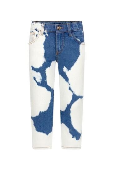 Versace Boys Blue Cotton Jeans