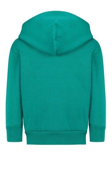 Kids Turquoise Cotton Hoody