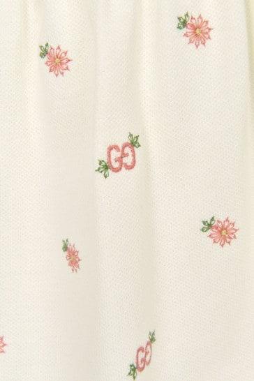 Baby Girls Cream Cotton Dress