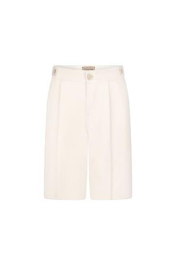 Boys Cream Cotton Shorts