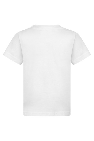 Baby Boys White Cotton Jersey T-Shirt