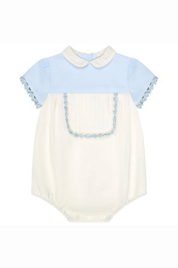 Baby Cream Cotton Romper Set