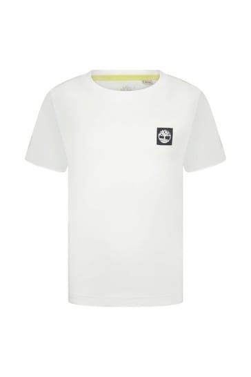 화이트 코튼 티셔츠