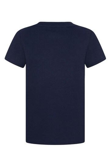 보이즈 네이비 코튼 저지 티셔츠