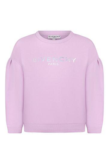 Girls Lilac Cotton Sweat Top