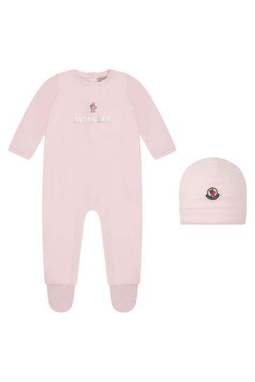 아기 소녀 라이트 핑크 코튼 슬립 수트