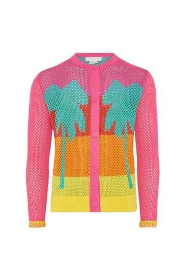 Girls Multicoloured Cotton Cardigan