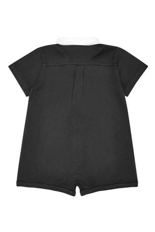Baby Boys Black Cotton Shortie