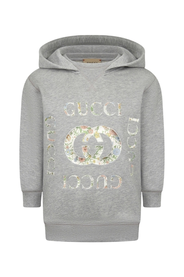 Girls Grey Cotton Hoody