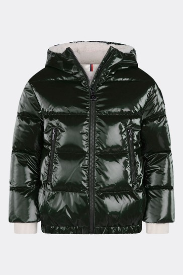 Girls Green Down Padded Clentra Jacket