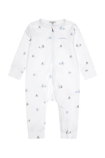 Baby White Cotton Babygrow