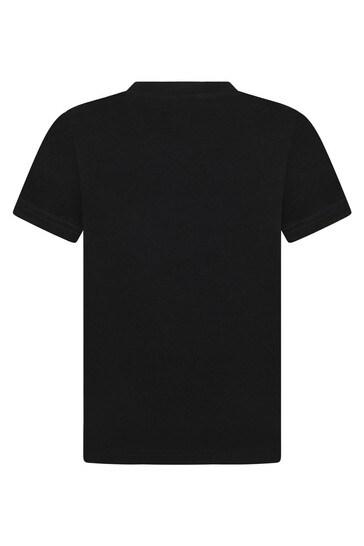 보이즈 블랙 코튼 티셔츠