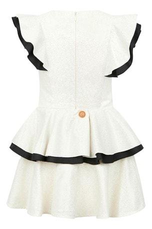 Girls Cream Butterfly Dress