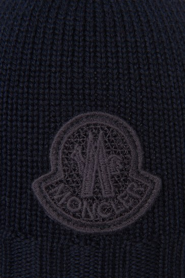 Boys Navy Blue Wool Baby Hat
