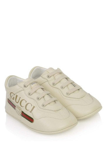 Baby Ivory Leather Rhyton Trainers