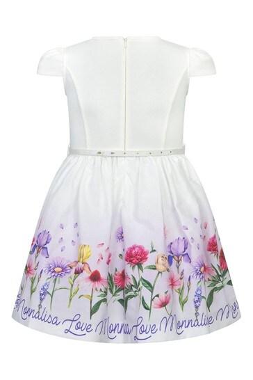 크림 코튼 드레스
