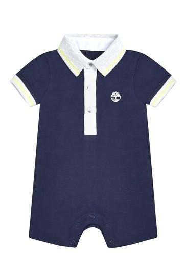 Baby Navy Cotton Romper Gift Set