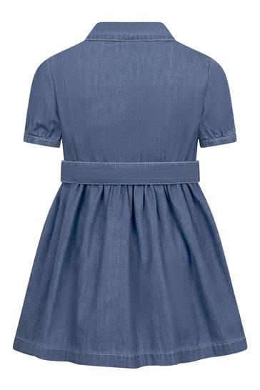 Girls Blue Cotton Dress