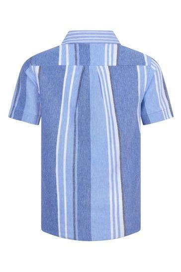 Boys Blue Pique Polo Shirt