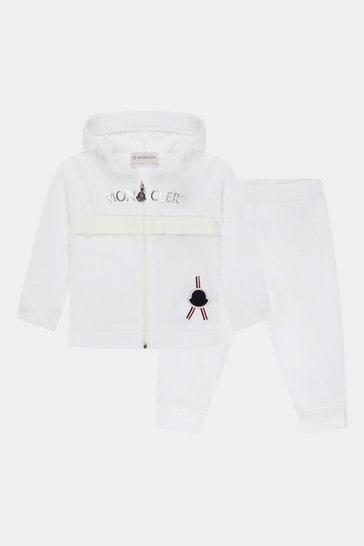 Baby Girls White Tracksuit