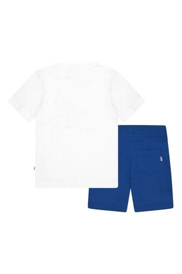 Boys White Cotton Set