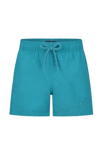 Boys Blue Turtles Water Reactive Swim Shorts