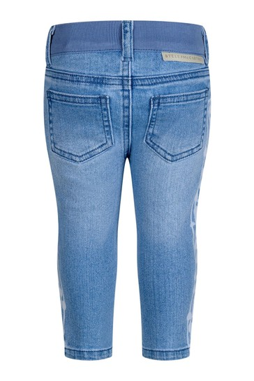 Baby Boys Blue Denim Music Notes Jeans
