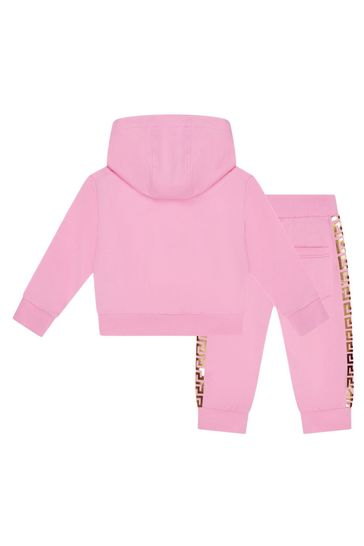 Baby Pink Cotton Tracksuit