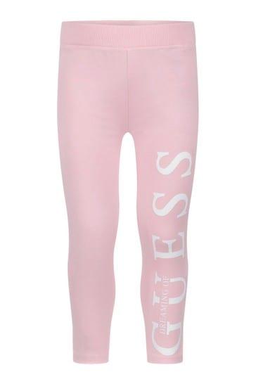 걸스 핑크 아이콘 레깅스
