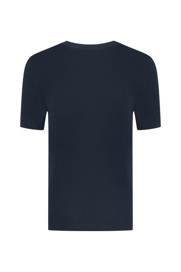 BOSS 보이즈 네이비 코튼 티셔츠