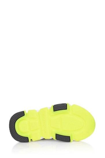 Kids Black/Neon Yellow Speed Trainers
