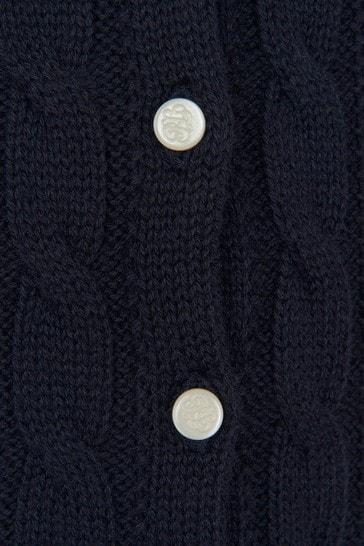 Baby Girls Navy Cotton Cardigan