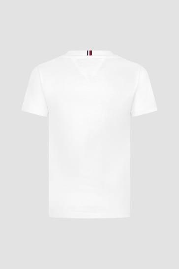 Tommy Hilfiger Boys White Cotton T-Shirt