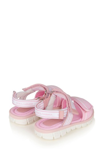 Dolce & Gabbana Baby Girls Pink Leather Sandals