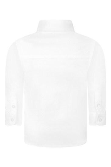 BOSS Baby Boys White Cotton Shirt