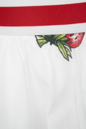 Monnalisa Girls White Cotton Skirt