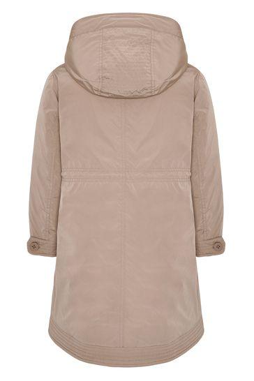 Girls Peach Down Padded Coat